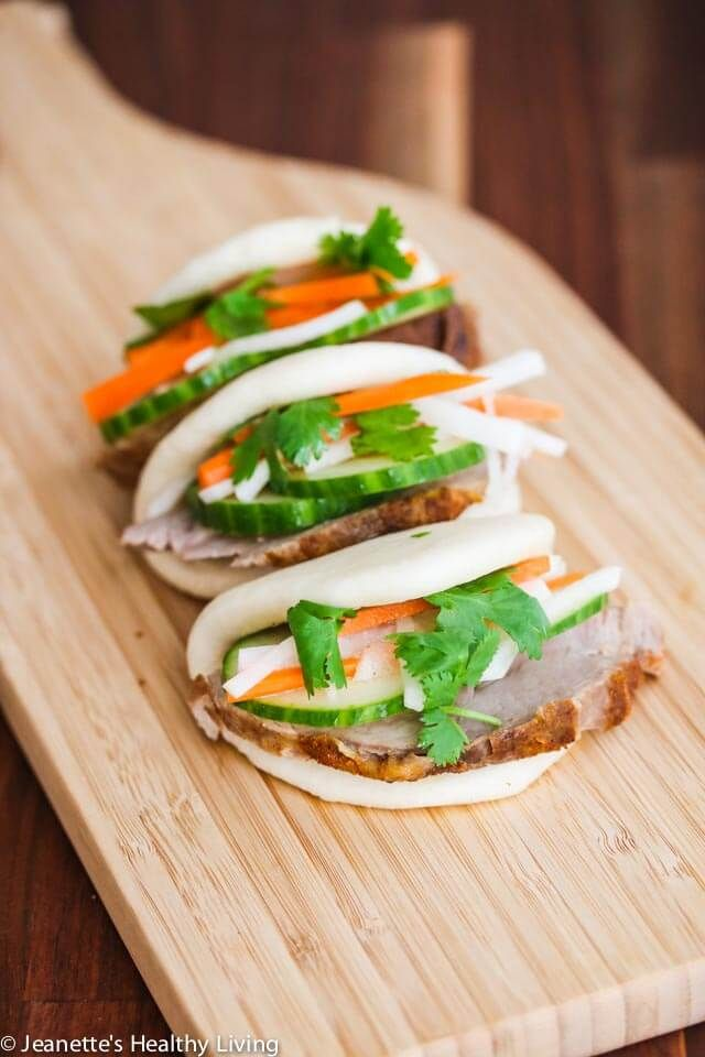 Sous Vide Pork Loin Banh Mi Buns feature tender, juicy lean pork cooked in a sous vide bath. Learn what sous vide cooking is, the equipment used in sous vide cooking, what sous vide works best for, and food safety using sous vide.