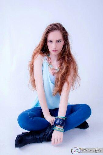 #Model #pose #studio. #fashion