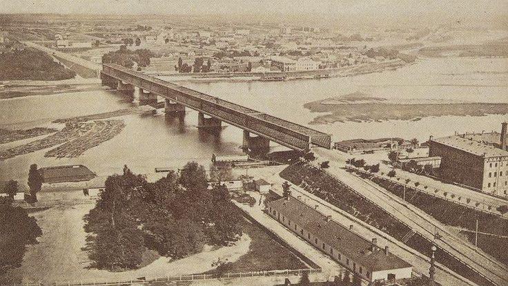 Panorama z wieży Zamku Królewskiego, Konrad Brandel, 1873 rok.