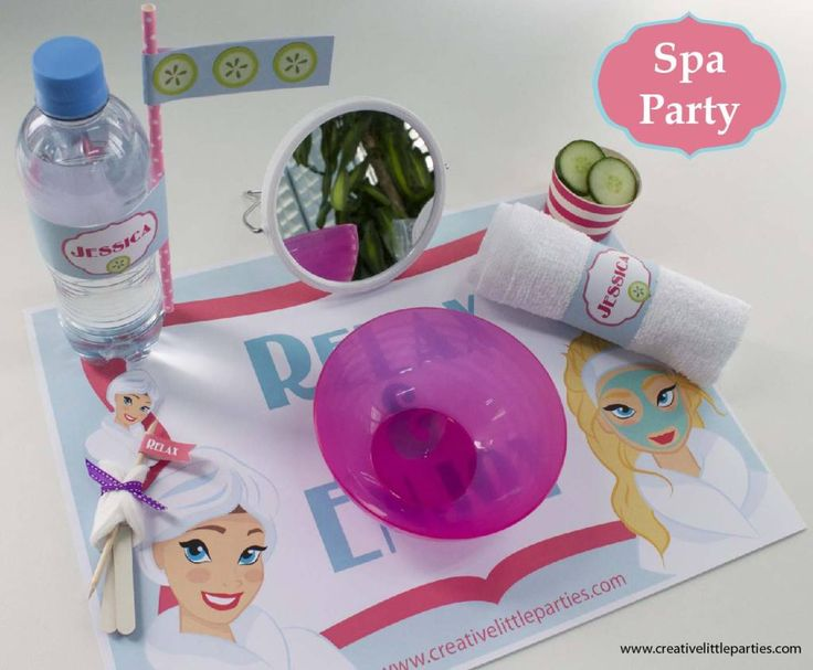Spa party by creative little parties  #freeprintable #spaparty #spa #party #free #printable #printables