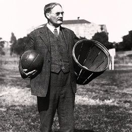 basketball naismith james history inventor ymca basket invented ball canadian dr hoop kansas players peach father around used play shooting