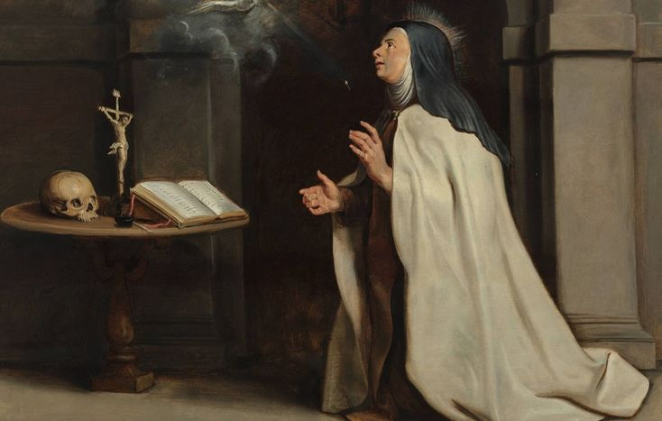 Saint Teresa of Avila, the 16th century #Spanish #mystic, saw an angel rushing towards her, #carrying a torch and a bucket of water....