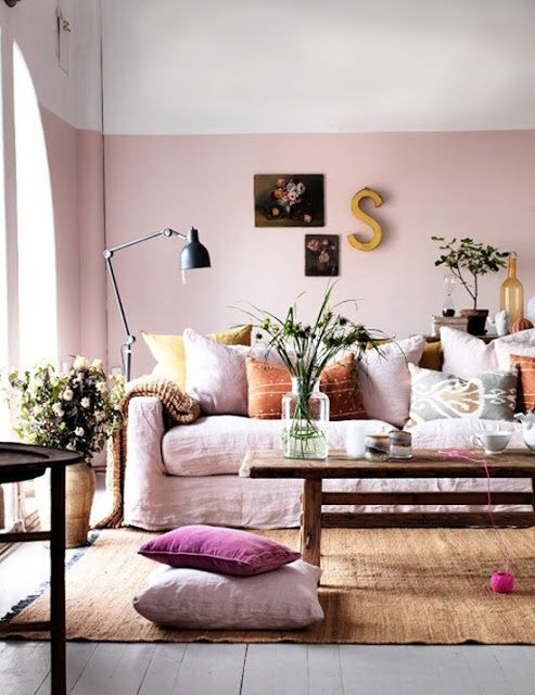 she moves the furniture: Interiors: Half-Painted Walls