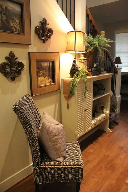 love the little cabinet and chair  House Tour: House Snooping at Savvy Seasons - Worthing Court