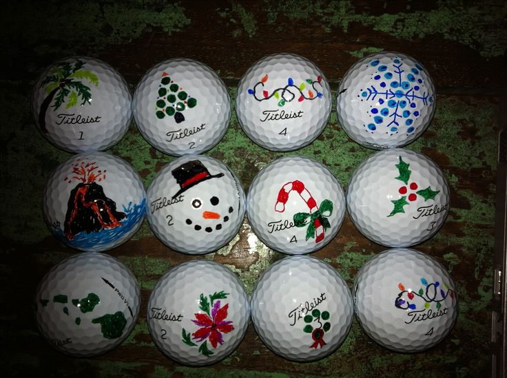 Golf balls I decorated.