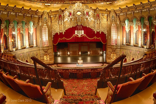 The view from the balcony seats of Detroit's Fox Theater