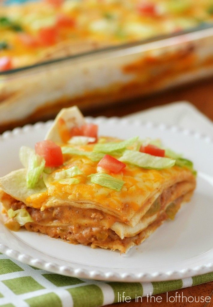 Mexican Tortilla Stack. Easy and delicious!  - Life In The Lofthouse