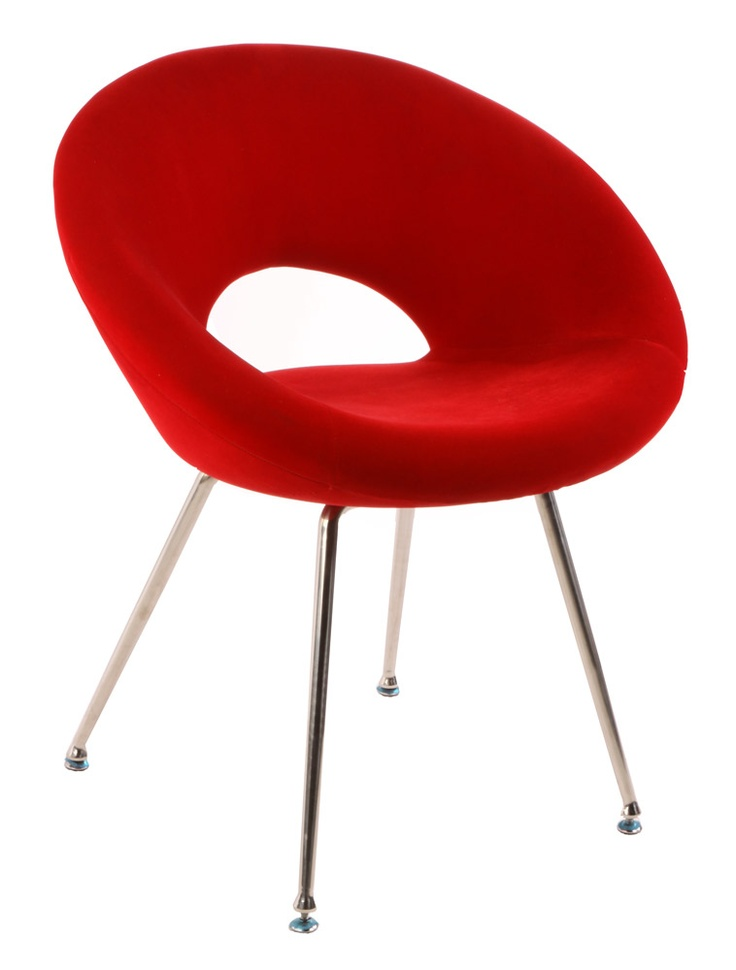 Via Matt Blatt   Eero Saarinen Ring Chair   Red