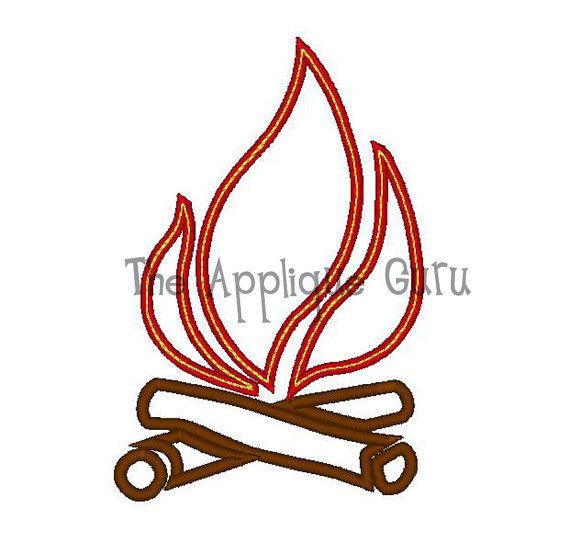 Free Campfire Embroidery Design