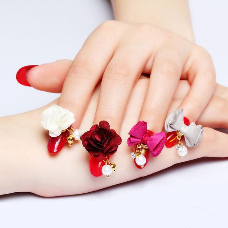 Nail Art Bunga: 10 Pcs/lot Terbaru Jepang Nail Perhiasan Dilepas Magnet