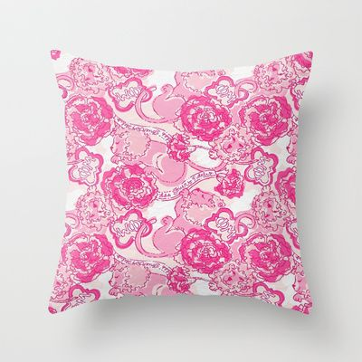 Phi Mu Throw Pillow by micmiller - $20.00 - wish I had seen this price before $60 LOL