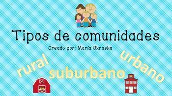 Tipos de comunidades (urbano, suburbano, rural) | Spanish ...