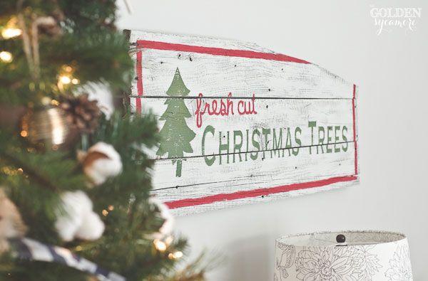 Fresh Cut Christmas Trees Sign