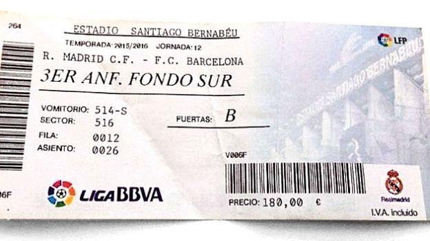 Ticket Real Madrid Vs Barcelona