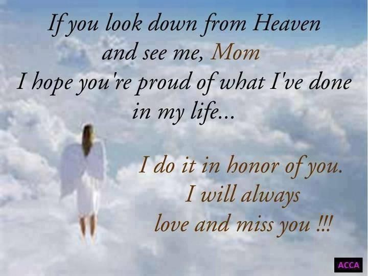 Missing Mother In Heaven Quotes