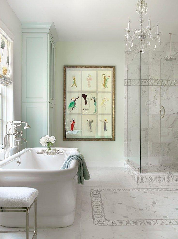 48 Creative Tile Rug Inlay Ideas For Your Bathroom Bathroom Ideas Custom Bathroom Baths Creative