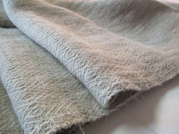 Vintage Washed Romanian Hemp Fabric - Rustic Raw Natural  Hemp- Shabby Chic- Diamond Pattern on Etsy, $17.00