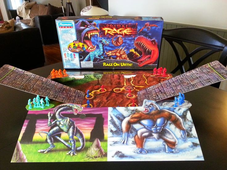 Primal Rage Rage On Urth By Playmates A Board Game A