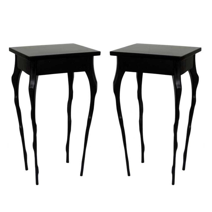 Pair Of Side Tables By Jacques Jarrige...or Is It Tim Burton?