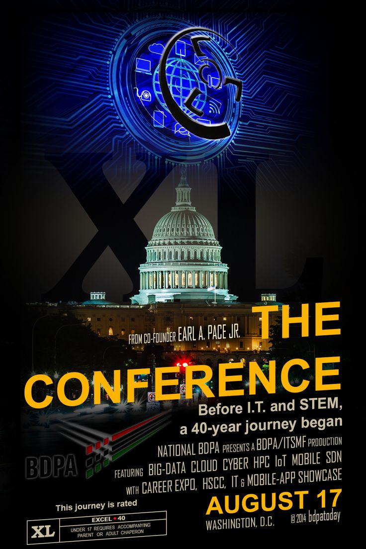"""XL Movie Poster"" -- Commemorating 40 years with National BDPA for ""Advancing Technical Careers from the Classroom to the Boardroom.  ""XL"" ( the #BDPA verb \ik-ˈsel\ ) also denotes the Roman Numeral equivalent for ""40""."