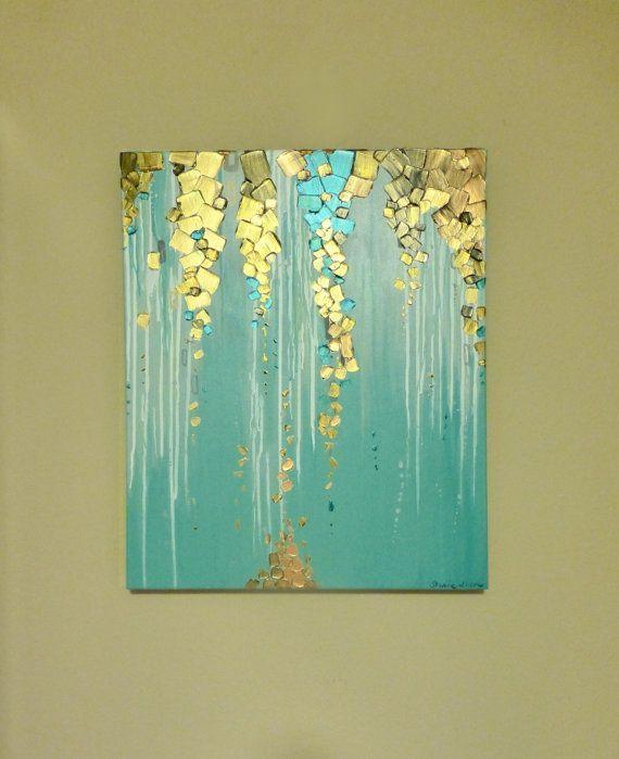 Original Modern Abstract MetallicTextured by GlassPalaceArts, $215.00