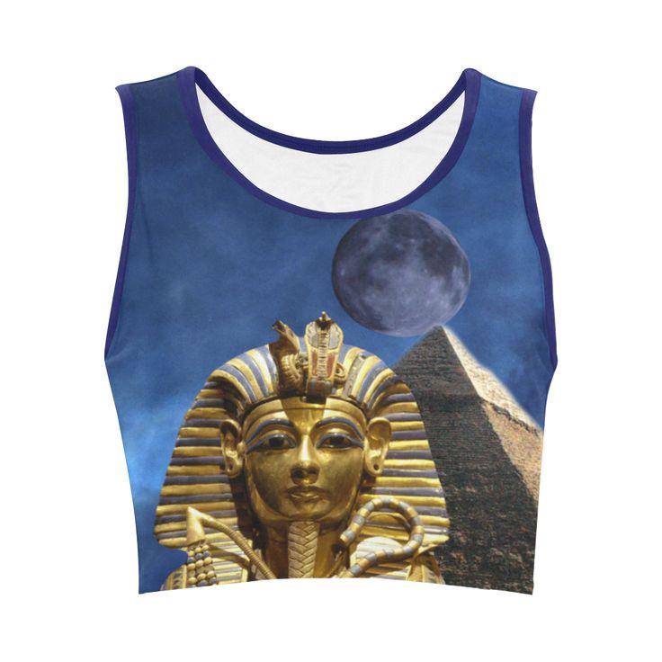 King Tut and Pyramid Women's Sports Bra. FREE Returns. #artsadd #tops #egypt