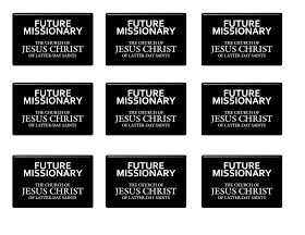 This is a photo of Impertinent Lds Missionary Name Tag Printable