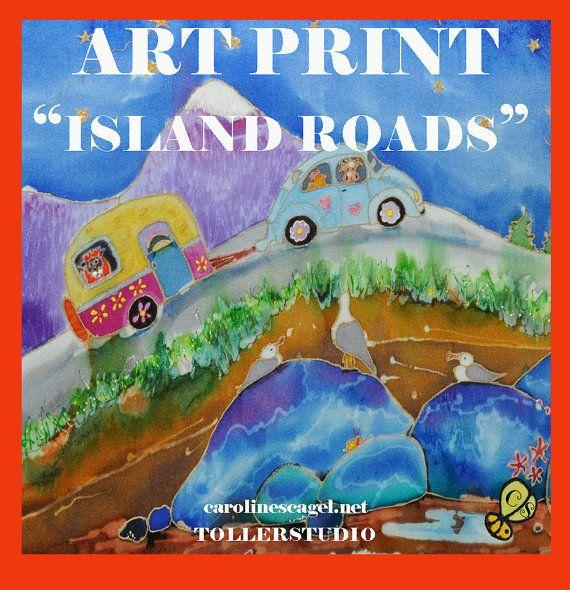 Island Roads by TollerStudio on Etsy