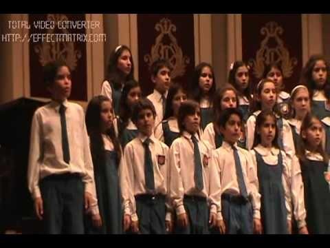 PUEBLITO MI PUEBLO. En el Libertador. Coro preparatorio Domingo Zípoli