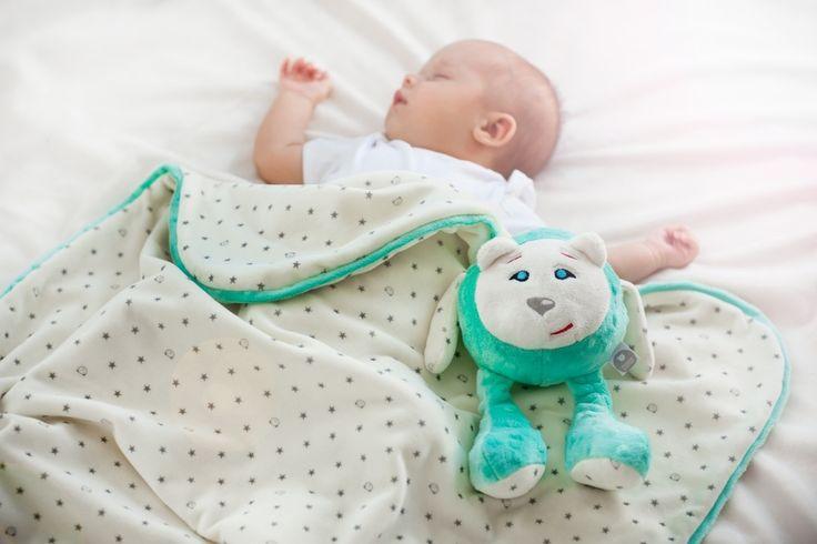 Kocyk letni dla dzieci SZUMISIE miętowy 66 x 76 cm - Akcesoria dla dzieci…