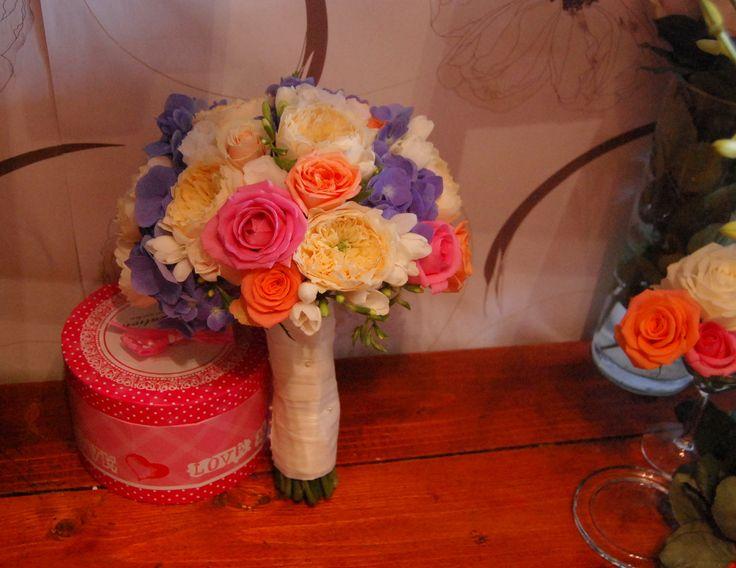 Trandafiri de gradina, hortensie, miniroze