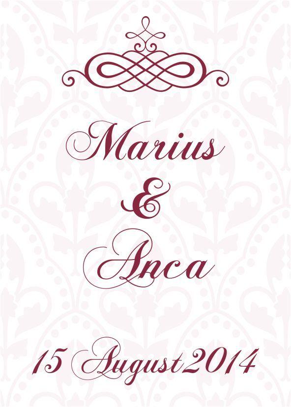 Eticheta pentru sticla, autocolanta VINTAGE 1.  #Etichetele din gama Vintage dau o nota de eleganta nuntii si evenimentului pe care il veti celebra.