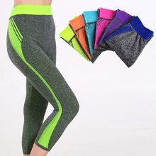 New Style women Capri pants Candy Solid yoga Leggings yoga pants Gym High Waist Running sport  leggings Strech Fitness Clothing //Price: $US $6.11 & FREE Shipping //