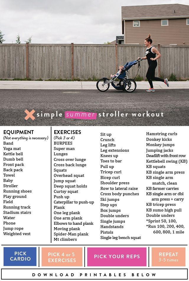 It's challenging enough to fit a workout in while the kids are in school andwith everyone home now for the summer 24/7-ish it's hasn't gottenany easier. So I asked mysuper fit friend, trainer and health guru, Tori,to help put together a workout routine the kids can tag along for either in a stroller, on bikes …