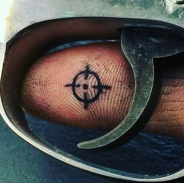 WHO WANTS THIS TATTOO NOW??? . #gun #tattoo #crosshairs #trigger  #badass…