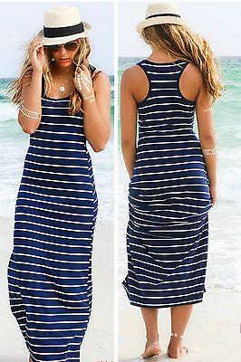 Women Summer Sexy Long Maxi Party Long Sleeve Dress Seaside Beach Dress Sundress