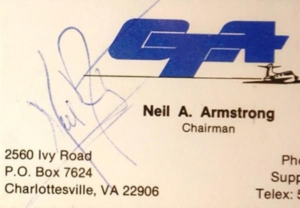 Neil Armstrong Business Card