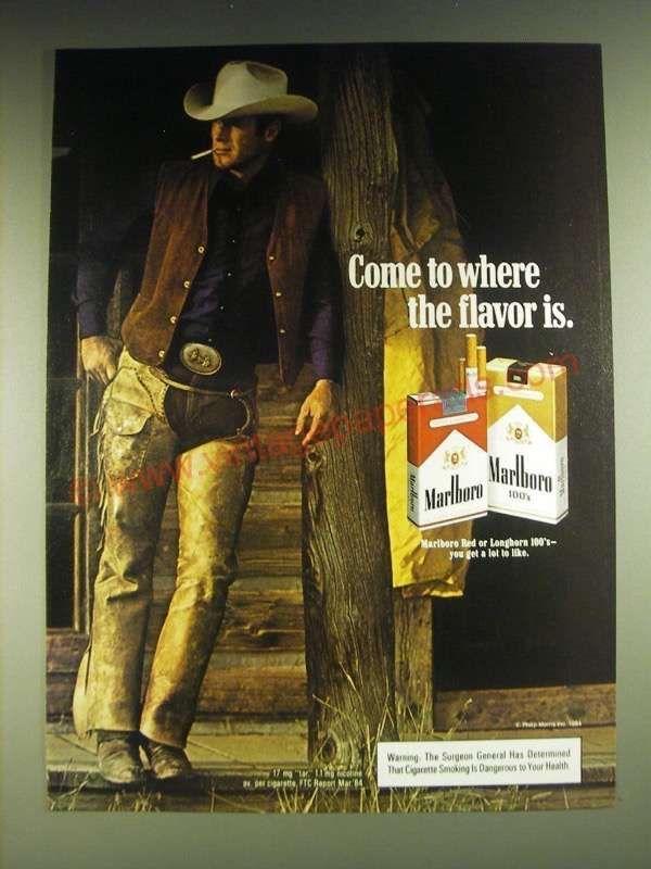 770803a99047d 1984 Marlboro Cigarettes Ad - Come to where the flavor is