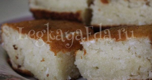 Кокосовый кекс на кефире - очень вкусный и пышный. Самый простой кекс в мире!