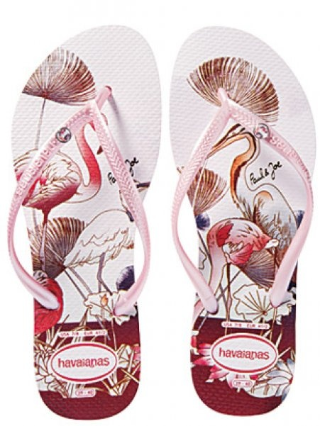 Havaianas in pink with flamingo