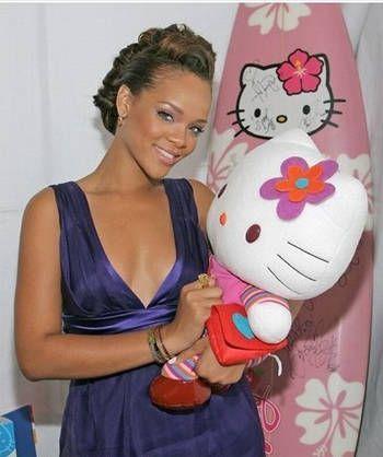Rihanna with Hello Kitty
