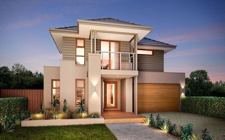 Metricon home designs the elysian metro facade visit - New home designs victoria ...