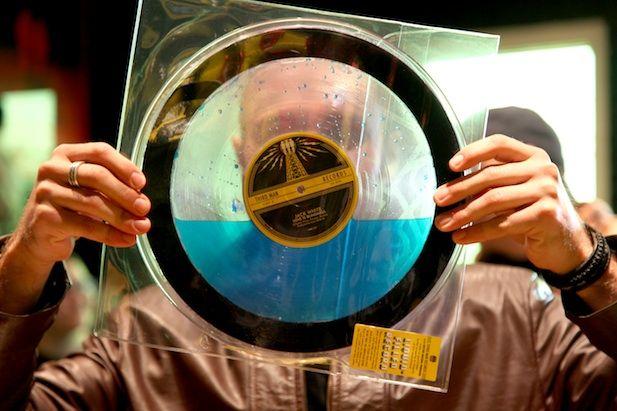 "Liquid filled vinyl single of ""Sixteen Saltines"" from Jack White."