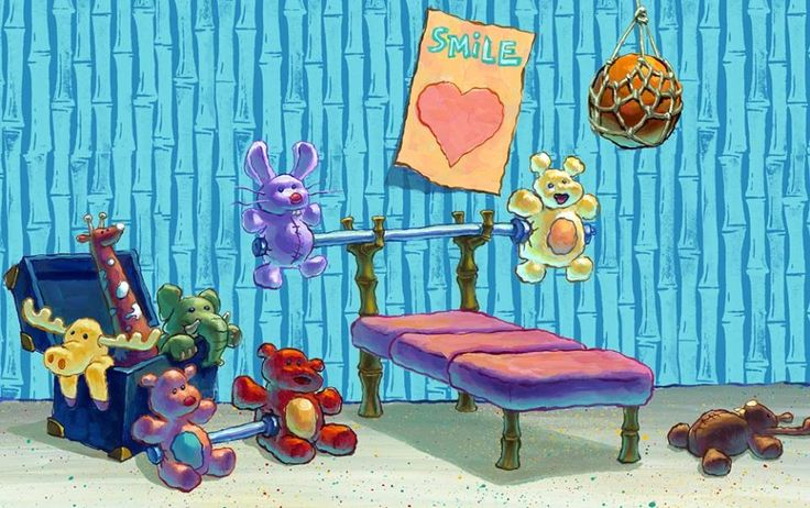 Spongebob Working Out