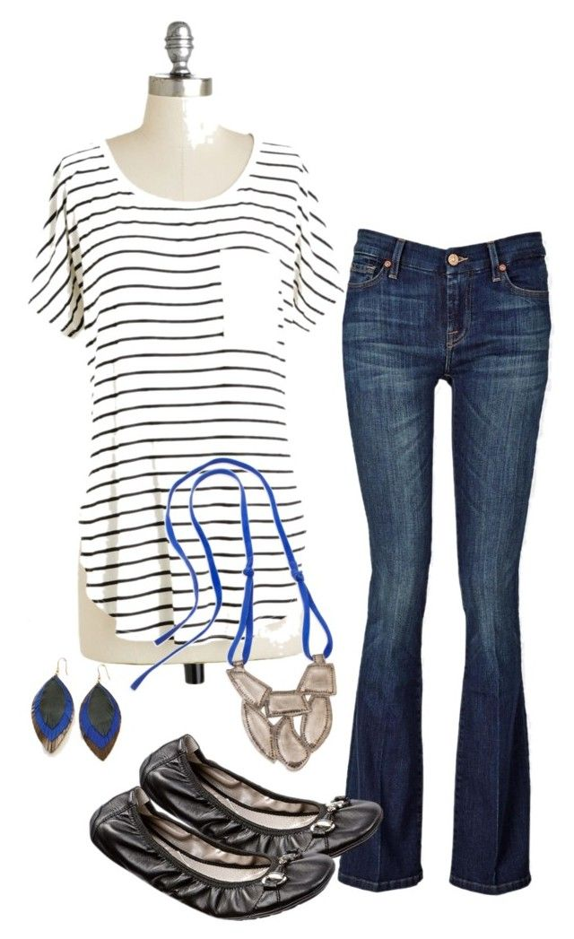 Saturday...everyday! by schull on Polyvore featuring polyvore, fashion, style, Noonday Collection, 7 For All Mankind and Me Too