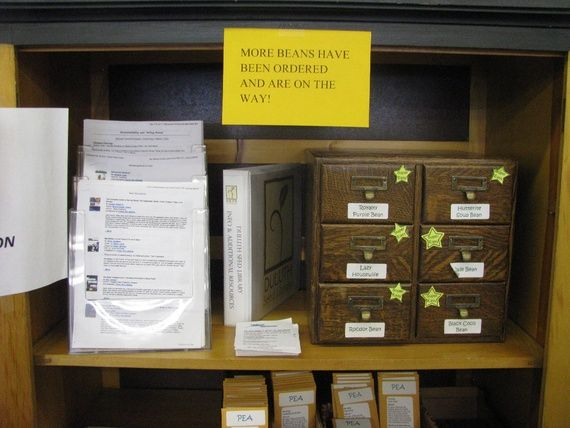 Sign in a seed library. Duluth, MN