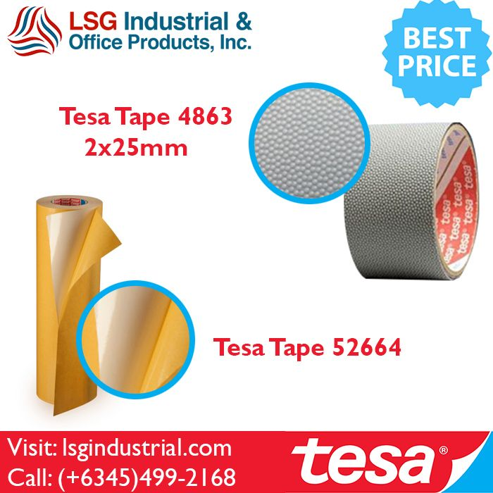 Wide Variety of tesa products available at LSG Industrial & Office Products Inc. located in Clarkfield Angeles City Pampanga. #tesa #tapes #adhesives