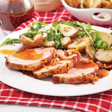 Roti de porc en croute de parmesan - Soupers de semaine - Recettes 5-15 - Recettes express 5/15 - Pratico Pratique