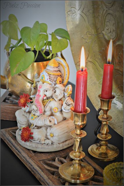 Ganesh Chaturthi Decor Ideas Ganesha Collection Puja RoomIndian FestivalsBlack