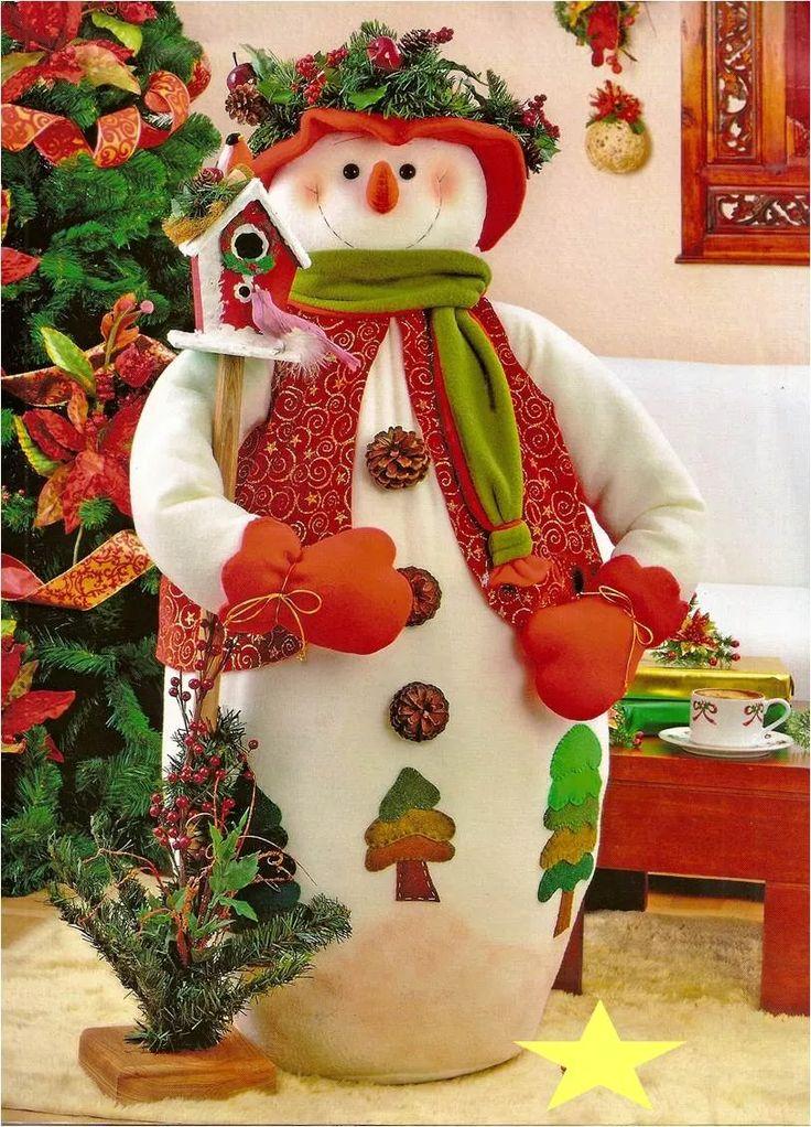 patron para elaborar bello nieve grande
